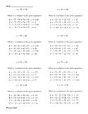 One Step Equation (Quiz)