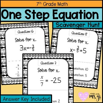 One Step Equation Scavenger Hunt