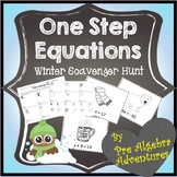 Solving One Step Equations Scavenger Hunt {Solving Equations Activity} {Winter}