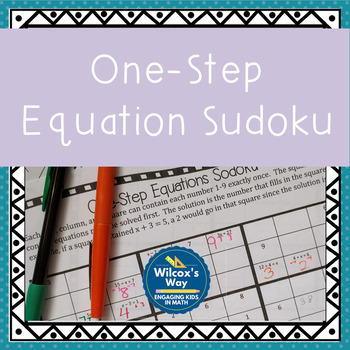 One Step Equation Sodoku Game