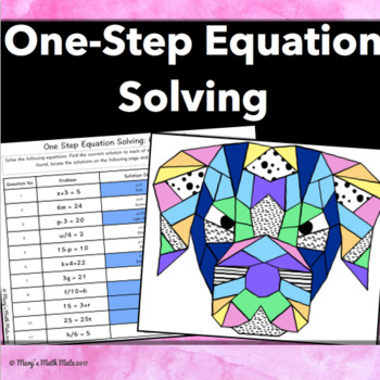One-Step Equation Solving: Coloring Page