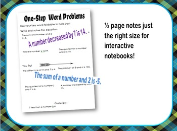 One-Step Equation Word Problem Bundle for Intervention & Special Education Class