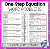 One-Step Equation Word Problems - Cut-and-Paste Activity