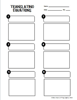 One-Step Equation Word Problems Task Cards