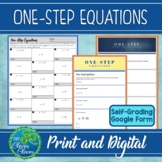 One-Step Equations Worksheets