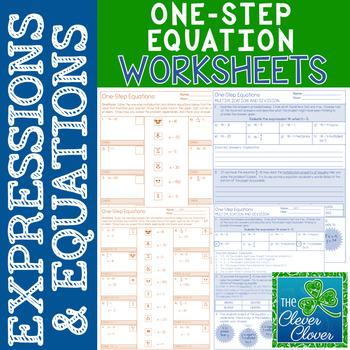 One-Step Equation Worksheets