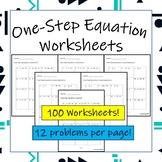 100 One Step Equation Worksheets