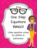 One-Step Equation (addition and subtraction of whole numbers) BINGO!