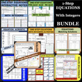 One-Step Equations 1-Step With Integers BUNDLE of DIFFEREN