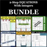 Two-Step Equations 2-Step With Integers BUNDLE of DIFFEREN