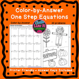 Halloween Solving Equations One Step Equations (Negatives)
