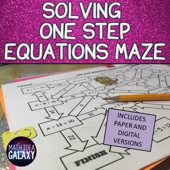 Solving One Step Equations Activity