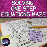 Solving One Step Equations Digital Activity