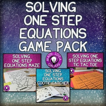 Solving One Step Equations Games
