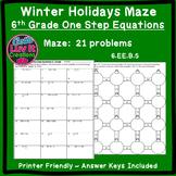 Christmas Activity: One Step Equations No Negatives Maze