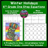 Christmas Math Solving Equations One Step Equations Distan