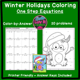Christmas Activity: One Step Equations Includes Negatives Color by Number