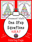 Christmas Math Holiday One Step Equations No Negatives Color Surprise Activity