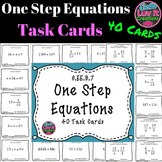 One Step Equations No Negatives 40 Task Cards