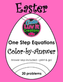 Easter Spring One Step Equations Color-by-Answer