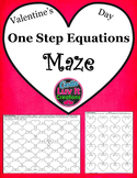 Valentine's Day One Step Equations Maze