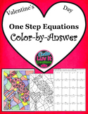 Valentine's Day One Step Equations Color-by-Answer