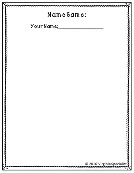 """One Step Equations """"ABC"""" Name Game/Word Game Movement Activity"""