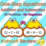 One-Step Equations Activity Addition and Subtraction All Positives with KAHOOT!