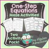 One Step Equations Worksheet {Solving One Step Equations Activity} {Activities}