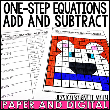 One Step Equations: Add and Subtract with Rational Numbers Coloring Activity