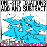 One Step Equations: Add and Subtract with Rational Numbers Puzzle