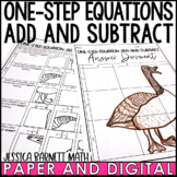 One Step Equations: Add and Subtract with Rational Numbers Word Problems