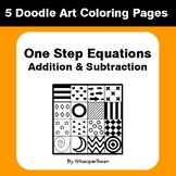 One Step Equations: Addition & Subtraction - Coloring Page