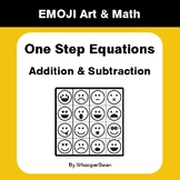 One Step Equations: Addition & Subtraction - Emoji Math &