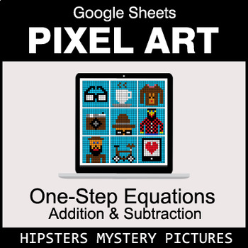 One-Step Equations - Addition & Subtraction - Google Sheets - Hipsters