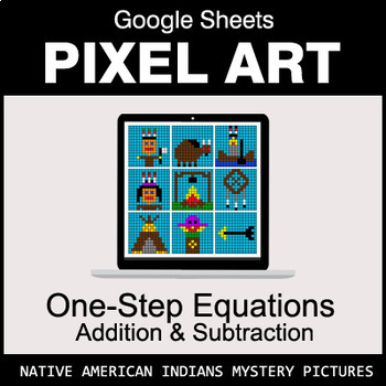 One-Step Equations - Addition & Subtraction - Google Sheets - Indians
