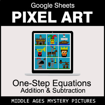 One-Step Equations - Addition & Subtraction - Google Sheets - Middle Ages
