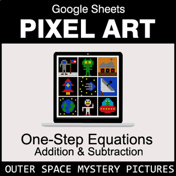 One-Step Equations - Addition & Subtraction - Google Sheets - Outer Space