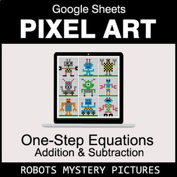 One-Step Equations - Addition & Subtraction - Google Sheets - Robots
