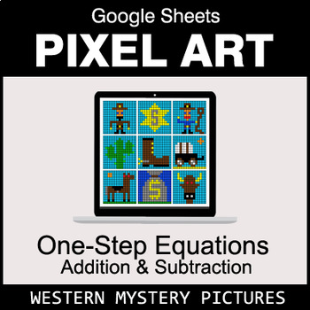 One-Step Equations - Addition & Subtraction - Google Sheets - Western
