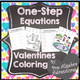 Valentines Day One-Step Equations Activity {Add, Subtract,