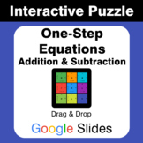 One Step Equations: Addition & Subtraction - Puzzles with