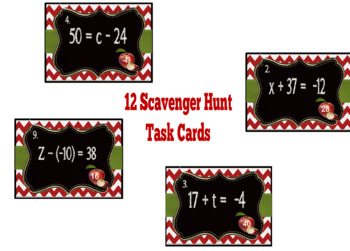 One-Step Equations (Addition/Subtraction) Scavenger Hunt + FREEBIE!
