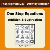 Thanksgiving Math: One Step Equations: Addition & Subtract