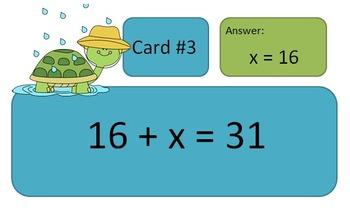 One Step Equations (Addition/Subtraction) - Scavenger Hunt