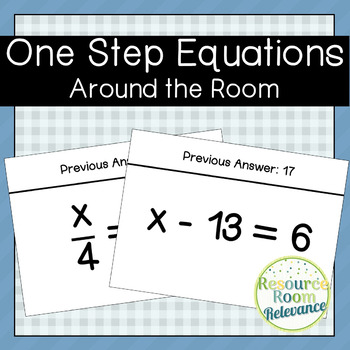 One Step Equations Around the Room