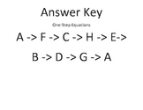 One-Step Equations- Around the World Answer Key