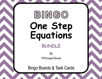 One Step Equations  - BINGO and Task Cards Bundle