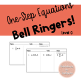 One Step Equations Bell Ringers Level C