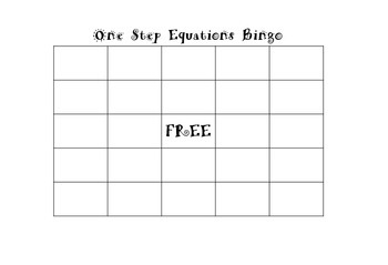 One Step Equations Bingo without Negatives by Hanna Houston | TpT
